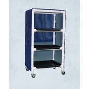 Care Products, Inc. E-Line Thin 3-Shelf Linen Cart w/ Cover