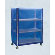 Care Products, Inc. E-Line Wide 3-Shelf Linen Cart w/ Cover