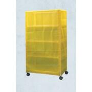 Care Products, Inc. E-Line Wide 4-Shelf Linen Cart w/ Cover