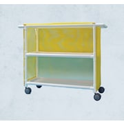 Care Products, Inc. E-Line 2-Shelf Tall Linen Cart w/ Cover