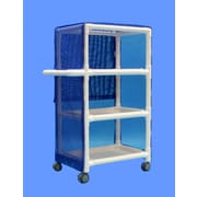 Care Products, Inc. Deluxe Thin 3-Shelf Linen Cart w/ Cover; 49'' H x 32'' W x 20'' D