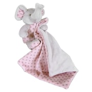 StephanBaby Blankie and Elephant Plush Toy Set; Pink