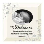 Dexsa Simple Expressions ''Baby Dedication'' Beveled Glass Picture Frame