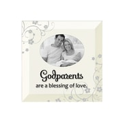 Dexsa Simple Expressions ''Godparents'' Beveled Glass Picture Frame
