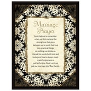 Dexsa Simple Expressions ''Marriage Prayer'' Wood Framed Textual Plaque