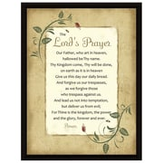 Dexsa Simple Expressions ''Lord's Prayer Wood'' Framed Textual Art