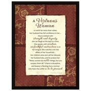 Dexsa Simple Expressions ''Virtuous Woman'' Wood Framed Textual Plaque