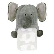 StephanBaby Fleece Blanket and Elephant Hat Set