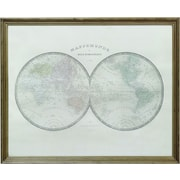 Creative Co-Op Turn of the Century Wood Framed Map Wall Decor