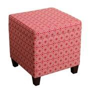 HomePop Fashion Pop Storage Cube Ottoman; Cherry Red