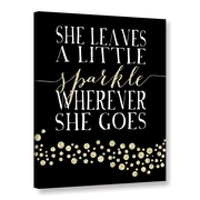 ArtWall Sparkle Gold by Amy Cummings Textual Art on Gallery Wrapped Canvas; 24'' H x 18'' W x 2'' D