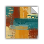 ArtWall Blue Retro Car by Irena Orlov Wall Mural; 18'' H x 18'' W x 0.1'' D