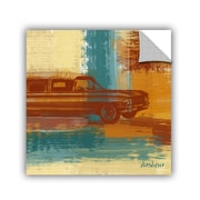 ArtWall Red Retro Car by Irena Orlov Wall Mural; 18'' H x 18'' W x 0.1'' D
