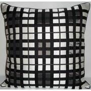 Edie Inc. Belgravia Plaid Throw Pillow; White / Black