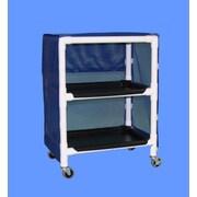 Care Products, Inc. E-Line Thin 2-Shelf Linen Cart w/ Cover