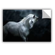 ArtWall Moonlight Silver Stallion by Melanie Snowhite Wall Mural; 24'' H x 36'' W x 0.1'' D