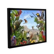 ArtWall Texas Birds by Chris Vest Floater Framed Painting Print; 18'' H x 24'' W x 2'' D