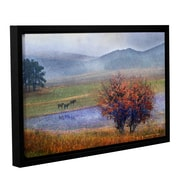 ArtWall Horses and Lone Oak by Chris Vest Framed Painting Print; 16'' H x 24'' W x 2'' D