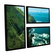ArtWall Emerald Coast by Dennis Frates 3 Piece Framed Photographic Print Set