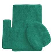 Daniels Bath Luxury 3 Piece Bath Rug Set; Tropical Green