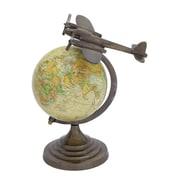 Woodland Imports Round Base Aluminium Globe
