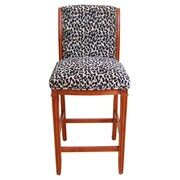 HomePop Leopard 29'' Bar Stool with Cushion