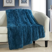 Chic Home Elana Shaggy Faux Fur Supersoft Ultra Plush Decorative Throw Blanket; Teal