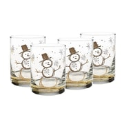 Culver Snowday 14 oz Double Old Fashion Glass (Set of 4)