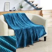 Chic Home Dijon Ultra Plush Micro Mink Waffle Textured Decorative Throw Blanket; Teal