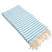Linum Home Textiles Fun in the Sun Pestemal/Fouta Bath Towel; Turquoise Blue