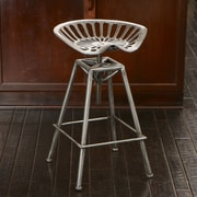 Home Loft Concepts Aroldis Saddle Adjustable Height Bar Stool; Black