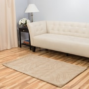 Harbormill Hand-Tufted Tan Area Rug; 3' x 5'