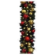 Queens of Christmas Sequoia Decorated Garland; Red and Gold