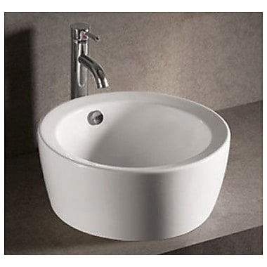 Whitehaus Collection Isabella Round Bathroom Sink w/ Overflow and Center Drain