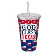 Occasionally Made Texas State of Mind God Bless 16 oz. Sipper Cup (Set of 2)