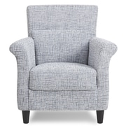 Container Contemporary Stripes Pattern Fabric Accent Chair; Light Blue/gray