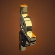 Zoroufy Dynasty 120'' Roped Tubular Stair Rod Set with Smooth Brackets Urn Finials; Polished Brass