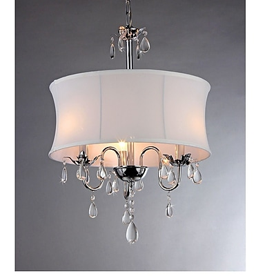 Warehouse of Tiffany 3-Light Drum Chandelier WYF078276490018