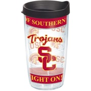 Tervis Tumbler Collegiate Wrap 16 oz. Tumbler with Lid; USC / Black Lid