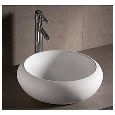 Whitehaus Collection Isabella Round Bathroom Sink w/ Center Drain