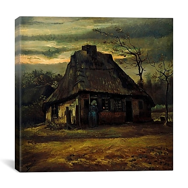 iCanvas 'The Cottage, 1885' by Vincent Van Gogh Painting Print on Canvas; 26'' H x 26'' W x 1.5'' D