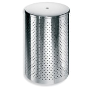 WS Bath Collections Complements Waste Basket with Lid; Stainless Steel