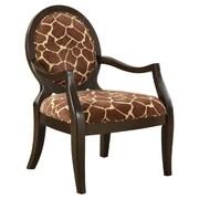 Williams Import Co. Giraffe Distressed Fabric Arm Chair