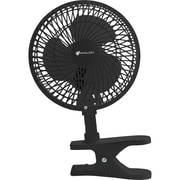Avalon 6 Inch Clip-On Fan with Attachable Table-Top Base, Black