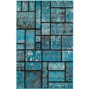 Rug and Decor Inc. Summit Teal Area Rug; 3'8'' x 5'
