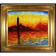 Tori Home San Giorgio Maggiore by Twilight by Monet Framed Hand Painted Oil on Canvas