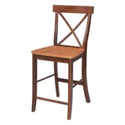 International Concepts Dining Essentials 24'' Bar Stool; Cinnamon/Espresso