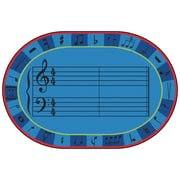 Carpets for Kids Value Plus A-Sharp Music Area Rug; 8' x 12'
