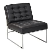 Ave Six Anthony Slipper Chair; Black Faux Leather