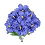 AdmiredbyNature Artificial Blooming Hibiscus Flowers Bush; Blue